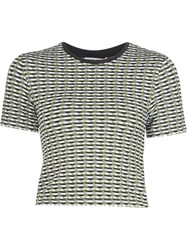 Opening Ceremony Cropped Checked Slim Fit Top Multicolour