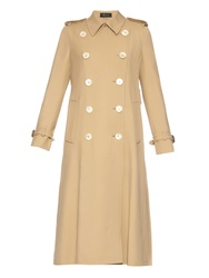 Gucci Pleated Back Wool Trench Coat