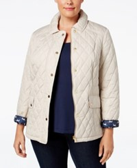 Charter Club Plus Size Quilted Puffer Coat Only At Macy's Sand