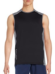 Calvin Klein Core Stretch Two Tone Muscle Tee Black