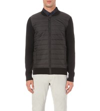 Barbour B.Intl Baffle Quilted Shell And Wool Jacket Black