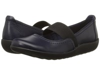 Clarks Medora Ally Navy Leather Women's Shoes Blue