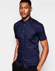Minimum Short Sleeve Shirt Navy