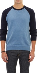 Vince. Baseball Sweater Blue Size S