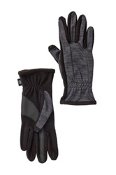 Isotoner Heathered Sport Smartouch Gloves Black