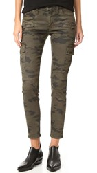 Hudson Colby Ankle Moto Skinny Cargo Jeans Rustic Camo