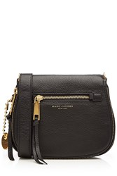Marc Jacobs Recruit Small Leather Saddle Bag Black