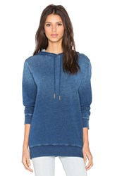 Stateside Indigo French Terry Pullover Hoodie Blue