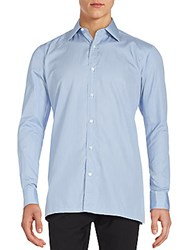 Charvet Long Sleeve Checked Shirt Blue