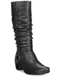 Easy Street Shoes Jayda Plus Wide Calf Boots Women's Black