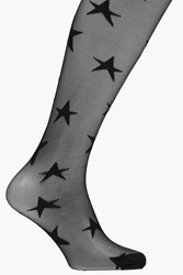 Boohoo All Over Star Tights Black