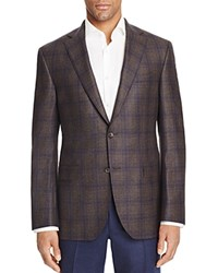 Jack Victor Loro Piana Plaid Prestige Classic Fit Sport Coat 100 Bloomingdale's Exclusive Navy