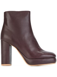 See By Chloe 'Lisa' Platform Boots Pink And Purple