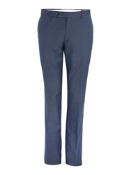 Corsivo Santo Mini Texture Suit Trouser Blue
