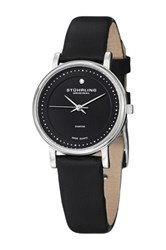 Stuhrling Women's Lady Casatorra Diamond Accented Watch Black