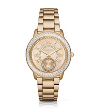 Michael Kors Madelyn Pave Gold Tone Watch
