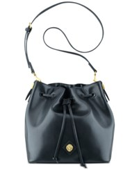 Anne Klein Nina Drawstring Crossbody Bag Black