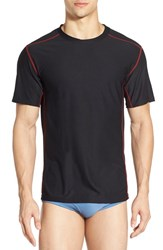 Men's Exofficio 'Give N Go Sport' Mesh Crewneck T Shirt Black
