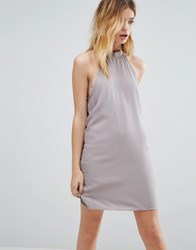 Native Youth High Neck Swing Dress Grey