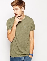 Jack Wills T Shirt With Pocket In Vintage Jersey Green