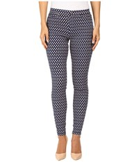Hue Peacock Dot Denim Leggings Oxford Blue Women's Jeans