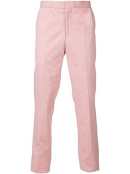 Thom Browne Straight Leg Trousers Red