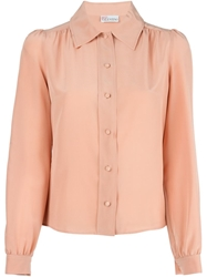 Red Valentino Classic Collar Shirt With Creases To The Front Pink And Purple