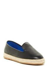 Jeffrey Campbell Abides Espadrille Leather Flat Black