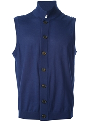 Brunello Cucinelli Sleeveless Cardigan Blue