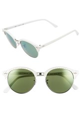 Women's Ray Ban 'Club' 51Mm Round Sunglasses White