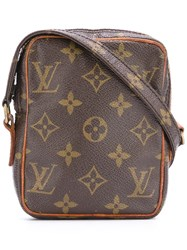 Louis Vuitton Vintage Small Logo Crossbody Bag Brown