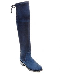 Blondo Snow Knee High Suede Boots Navy Blue