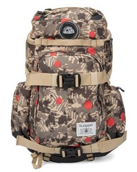 Element Khaki And Beige The Explorer Canyon Pattern Backpack