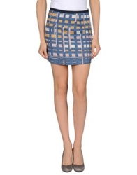 Alysi Mini Skirts Slate Blue