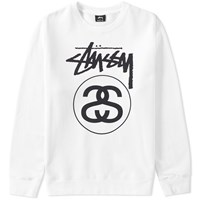 Stussy Stock Link Crew Sweat White