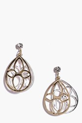 Boohoo Filigree Layered Earrings Multi