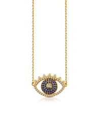 Kenzo Golden Sterling Silver Eye Necklace