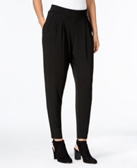 Eileen Fisher Tapered Pull On Ankle Pants Black