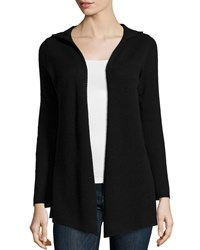 Minnie Rose Cashmere Hooded Cardigan Black