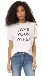 Mother Love Your Other Buster Tee Dirty White