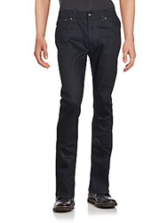Nudie Jeans Solid Cotton Blend Pants Dry Navy