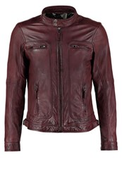 Oakwood Casey Leather Jacket Bordeaux