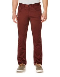Perry Ellis Slim Fit Sateen Jeans Chocolate