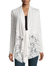 Philosophy Long Sleeve Front Tie Cardigan Fresh Lily