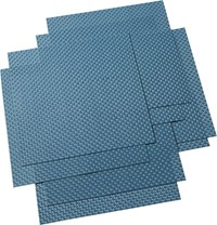 Cb2 Set Of 8 Basketweave Blue Green Placemats