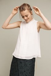 Anthropologie Wilshire Mockneck Top White