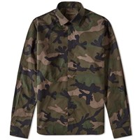 Valentino Camouflage Placket Shirt Green