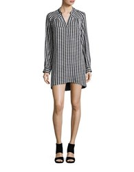 Highline Collective Gingham Knit Tunic Black White