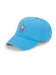 Psycho Bunny Textured Cotton Cap Lagoon