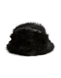 Parkhurst Bucket Style Faux Fur Hat Black